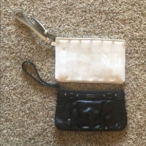 WHITE AND BLACK CLUTCHES